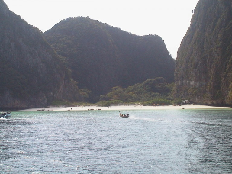 The famous beach of Ko Phi Phi Lee